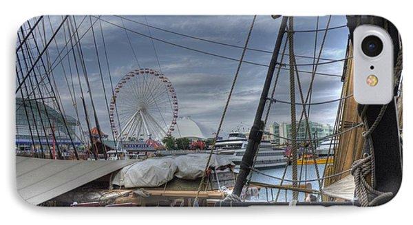 Tall Ships At Navy Pier Phone Case by David Bearden