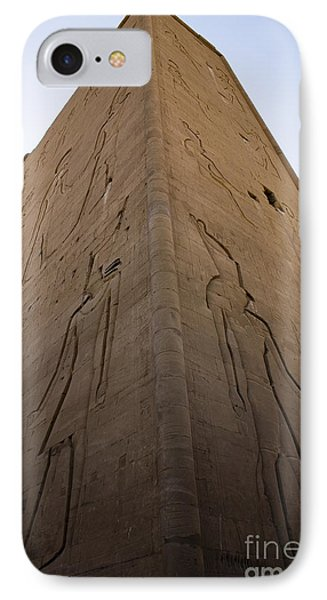 Tall Wall At Edfu IPhone Case by Darcy Michaelchuk