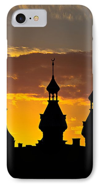 IPhone Case featuring the photograph Tampa Bay Hotel Minarets At Sundown by Ed Gleichman