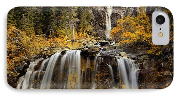 Tangle Falls, Jasper National Park IPhone Case by Keith Kapple