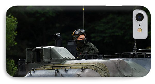 Tank Commander Of A Leopard 1a5 Mbt Phone Case by Luc De Jaeger