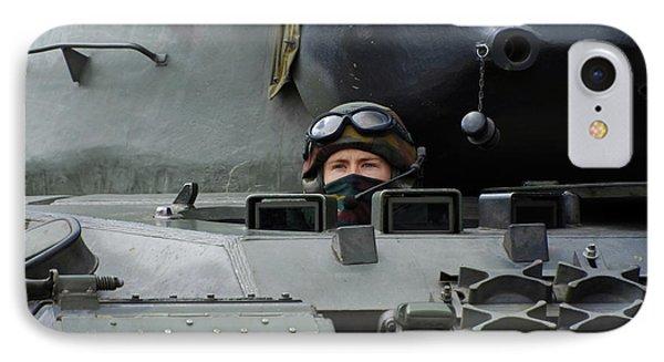 Tank Driver Of A Leopard 1a5 Mbt Phone Case by Luc De Jaeger
