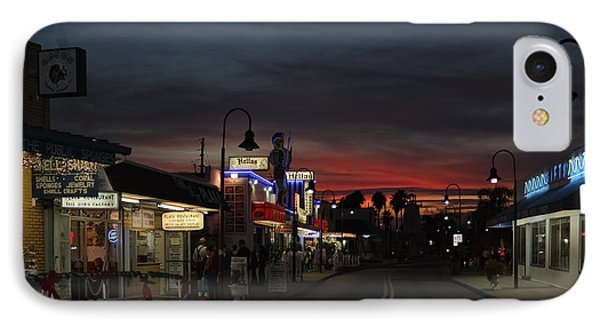 IPhone Case featuring the photograph Tarpon Springs After Sundown by Ed Gleichman