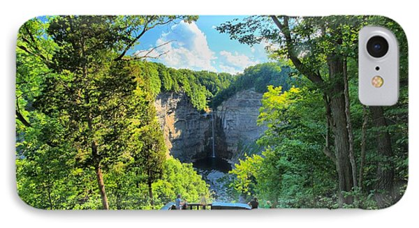 Taughannock Falls Overlook IPhone Case by Adam Jewell