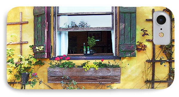 IPhone Case featuring the photograph Tavern Window by Ginny Schmidt