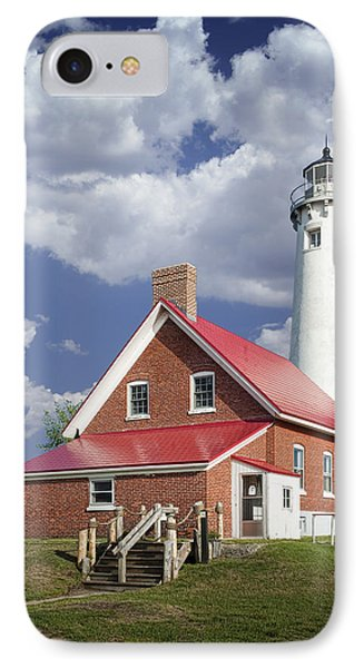 Tawas Point Lighthouse In Michigan Number 0007 Phone Case by Randall Nyhof