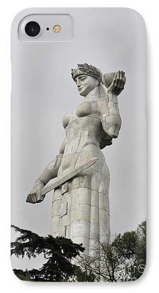 Tbilisi Mother Of Georgia Statue IPhone Case by Amos Gal