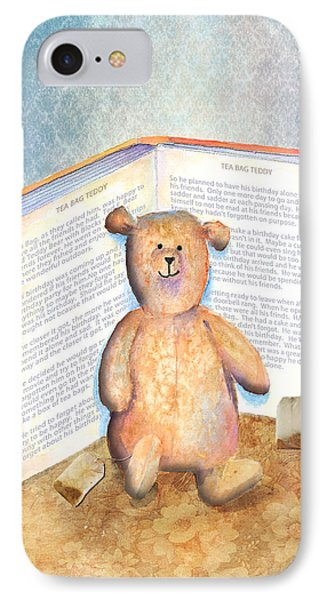 Tea Bag Teddy Phone Case by Arline Wagner