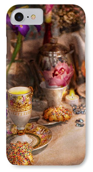 Tea Party - The Magic Of A Tea Party  Phone Case by Mike Savad