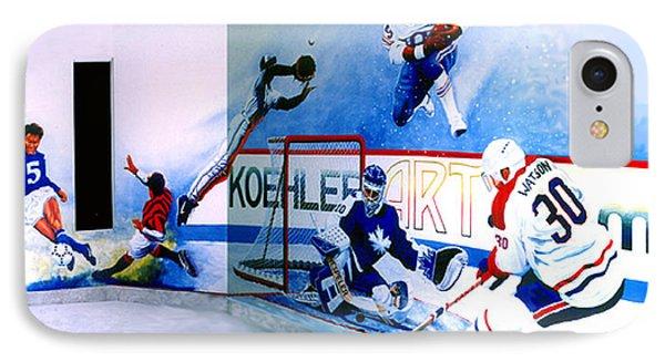 Team Sports Mural IPhone Case by Hanne Lore Koehler
