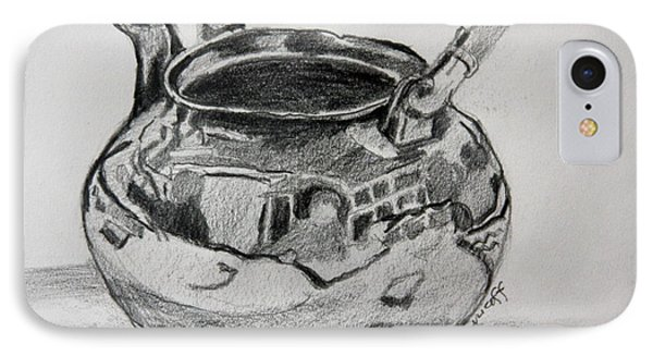 Teapot Reflections IPhone Case by Jan Bennicoff