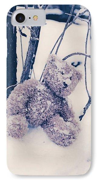 Teddy In Snow Phone Case by Joana Kruse