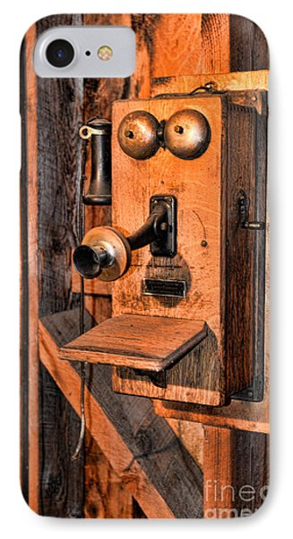 Telephone - Antique Hand Cranked Phone Phone Case by Paul Ward