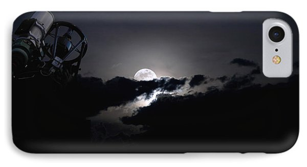 Telescope Pointed Out To The Night Sky Phone Case by Roth Ritter