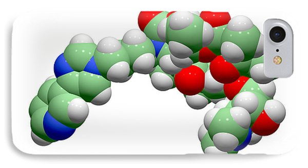 Telithromycin Antibiotic Molecule Phone Case by Dr Tim Evans