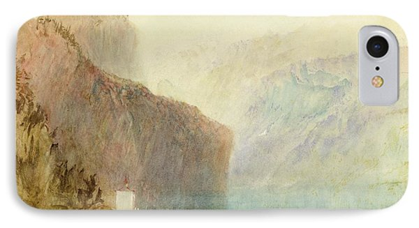 Tell's Chapel - Lake Lucerne IPhone Case by Joseph Mallord William Turner