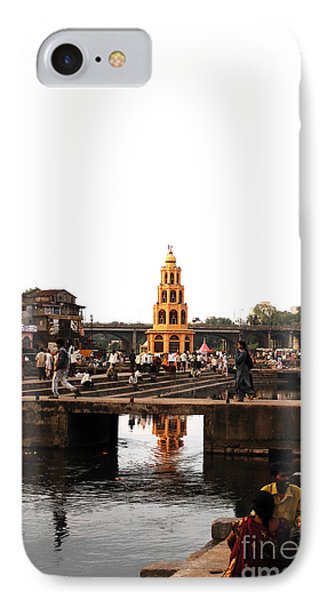 temple and the river in India Phone Case by Sumit Mehndiratta