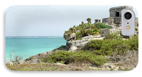 IPhone Case featuring the photograph Temple Of The Wind God Tulum Mexico by John  Mitchell