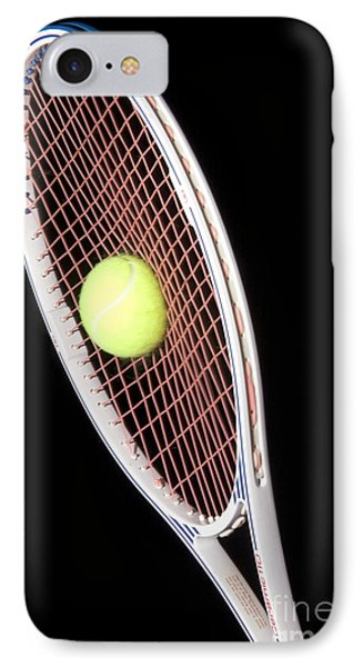Tennis Ball And Racket Phone Case by Ted Kinsman