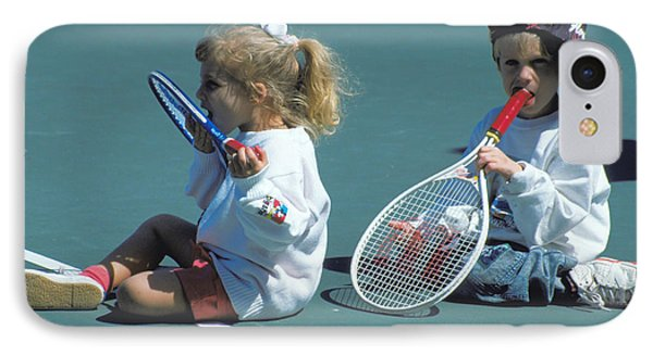 Tennis Tots At Wimbledon Phone Case by Carl Purcell