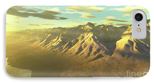 Terragen Render Of Mt. Whitney Phone Case by Rhys Taylor