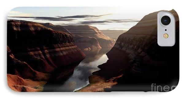 Terragen Render Of Trail Canyon IPhone Case