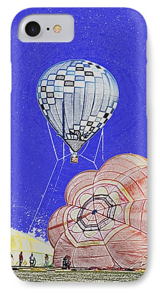 Tethered Hot Air Balloon Phone Case by Thomas Woolworth
