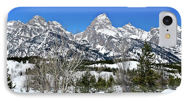 Teton Winter Landscape IPhone Case by Greg Norrell