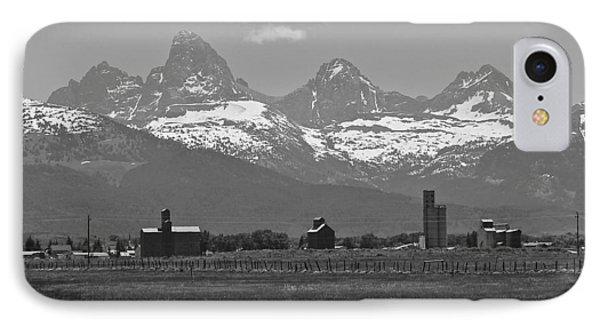 IPhone Case featuring the photograph Tetonia Grain Elevators by Eric Tressler
