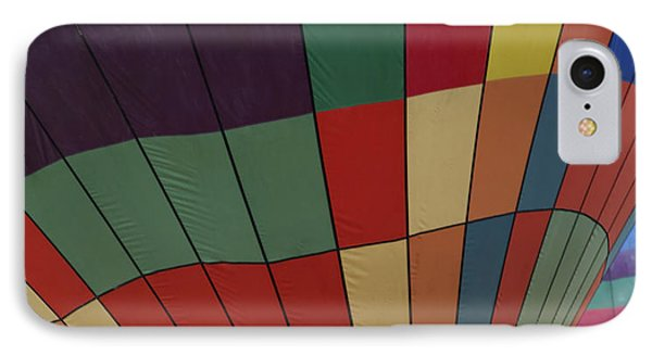Texture Two Hot Air Balloons Phone Case by Kantilal Patel