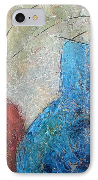 Textured Canvas Urns IPhone Case by Patricia Cleasby