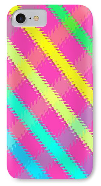 Textured Check Phone Case by Louisa Knight