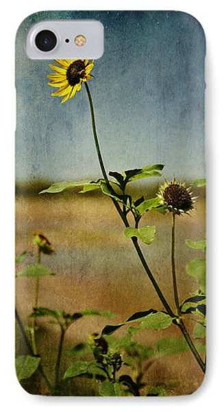 Textured Sunflower Phone Case by Melany Sarafis