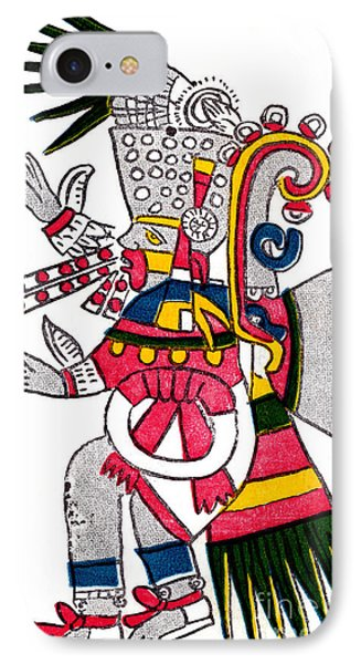 Tezcatlipoca, Aztec God Of Night, Codex Phone Case by Photo Researchers