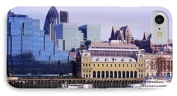 Thames And Financial District - London Phone Case by John Clark