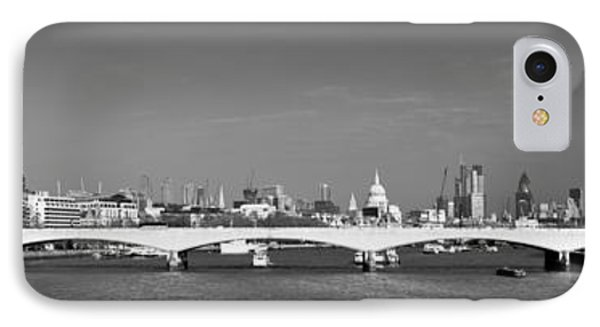 Thames Panorama Weather Front Clearing Bw Phone Case by Gary Eason