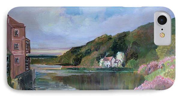 IPhone Case featuring the painting Thames River England By Mary Krupa by Bernadette Krupa