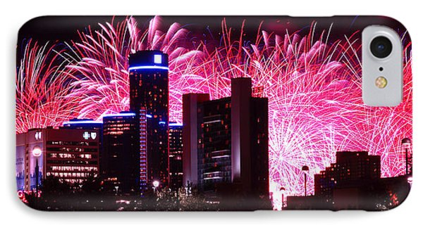 The 54th Annual Target Fireworks In Detroit Michigan Phone Case by Gordon Dean II