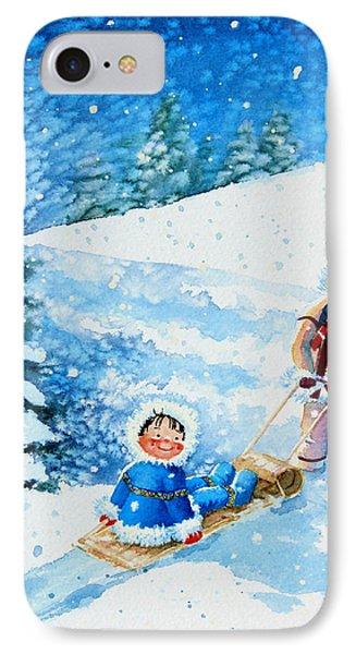The Aerial Skier - 1 Phone Case by Hanne Lore Koehler