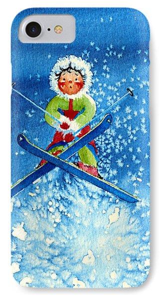 The Aerial Skier - 11 Phone Case by Hanne Lore Koehler