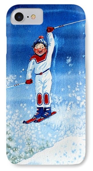The Aerial Skier 15 Phone Case by Hanne Lore Koehler