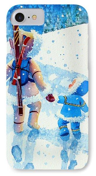 The Aerial Skier - 2 Phone Case by Hanne Lore Koehler