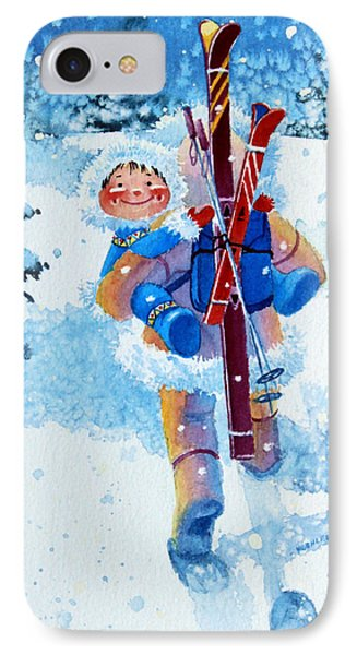 The Aerial Skier - 3 Phone Case by Hanne Lore Koehler