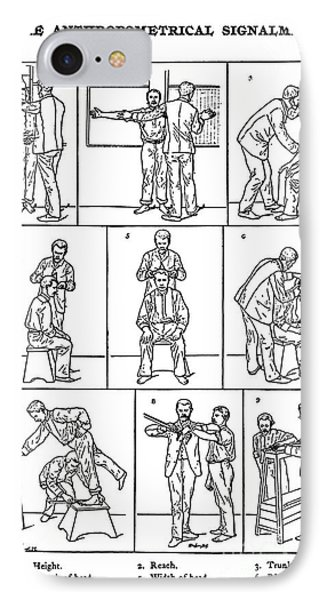 The Anthropometrical Signalment, 1896 Phone Case by Science Source