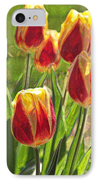 IPhone Case featuring the photograph The Artful Tulips by Nancy De Flon