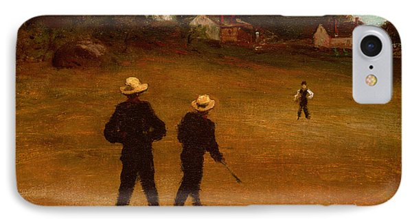 The Ball Players Phone Case by William Morris Hunt