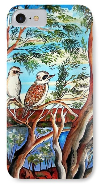 IPhone Case featuring the painting The Bandit Kookaburra by Roberto Gagliardi
