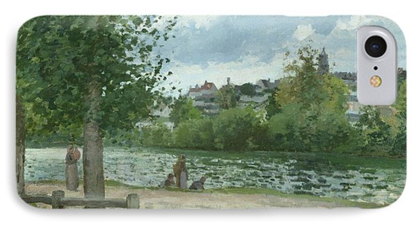 The Banks Of The Oise At Pontoise Phone Case by Camille Pissarro