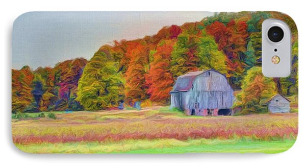 The Barn In Autumn Phone Case by Michael Garyet