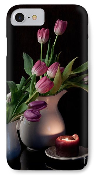 The Beauty Of Tulips Phone Case by Sherry Hallemeier